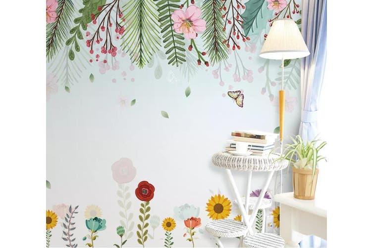3D Home Wallpaper Flower Butterfly D57 ACH Wall Murals Woven paper (need glue), XL 208cm x 146cm (WxH)(82''x58'')