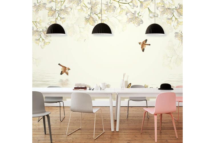 3D Home Wallpaper Bird Flower D55 Murals Woven paper (need glue), XL 208cm x 146cm (WxH)(82''x58'')
