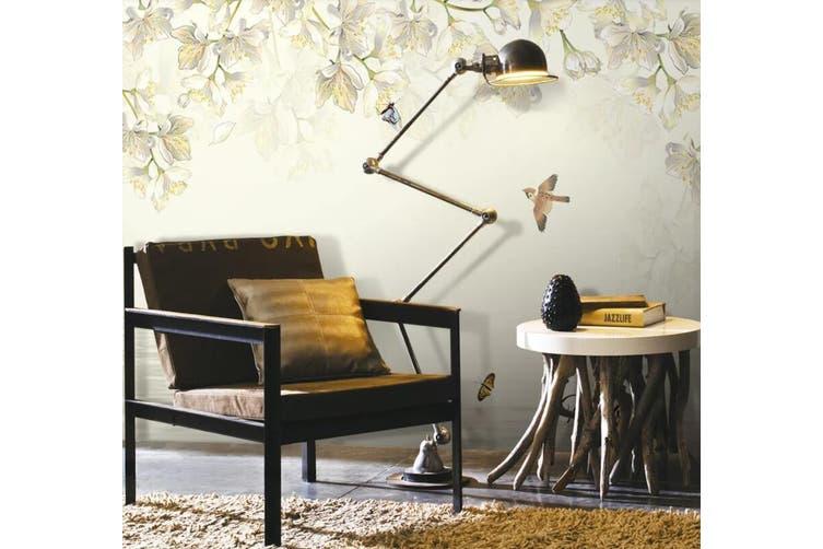 3D Home Wallpaper Bird Flower D55 Murals Woven paper (need glue), XXL 312cm x 219cm (WxH)(123''x87'')