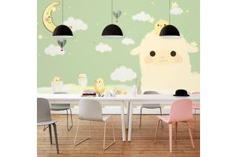 3D Home Wallpaper Cloud Baby D54 ACH Wall Murals Woven paper (need glue), XL 208cm x 146cm (WxH)(82''x58'')
