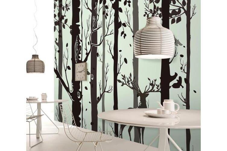 3D Home Wallpaper Black Tree D53 ACH Wall Murals Woven paper (need glue), XXXL 416cm x 254cm (WxH)(164''x100'')