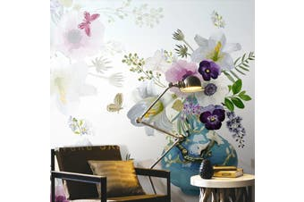 3D Home Wallpaper Flowers D52 ACH Wall Murals Self-adhesive Vinyl, XXXL 416cm x 254cm (WxH)(164''x100'')