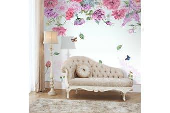 3D Home Wallpaper Pink Flowers D51 ACH Wall Murals Woven paper (need glue), XXXL 416cm x 254cm (WxH)(164''x100'')