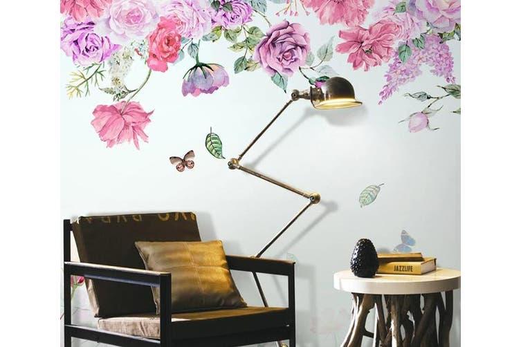 3D Home Wallpaper Pink Flowers D51 ACH Wall Murals Woven paper (need glue), XXXXL 520cm x 290cm (WxH)(205''x114'')