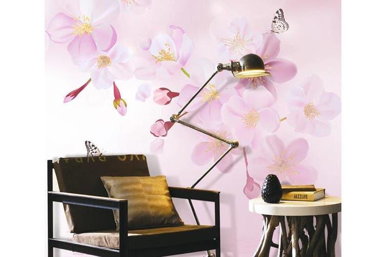 3D Home Wallpaper Pink Flowers D50 ACH Wall Murals Woven paper (need glue), XXXXL 520cm x 290cm (WxH)(205''x114'')