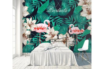 3D Home Wallpaper Flamingo D48 ACH Wall Murals Woven paper (need glue), XXXL 416cm x 254cm (WxH)(164''x100'')
