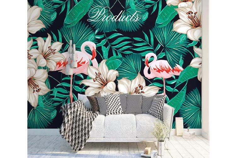 3D Home Wallpaper Flamingo D48 ACH Wall Murals Self-adhesive Vinyl, XXXL 416cm x 254cm (WxH)(164''x100'')