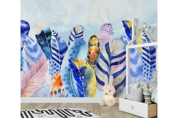 3D Home Wallpaper Colored Leaves D47 ACH Wall Murals Woven paper (need glue), XXL 312cm x 219cm (WxH)(123''x87'')