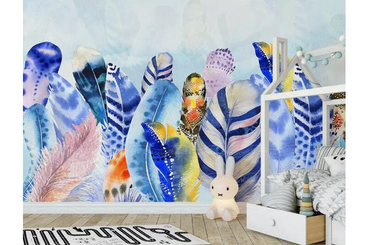 3D Home Wallpaper Colored Leaves D47 ACH Wall Murals Self-adhesive Vinyl, XXXL 416cm x 254cm (WxH)(164''x100'')
