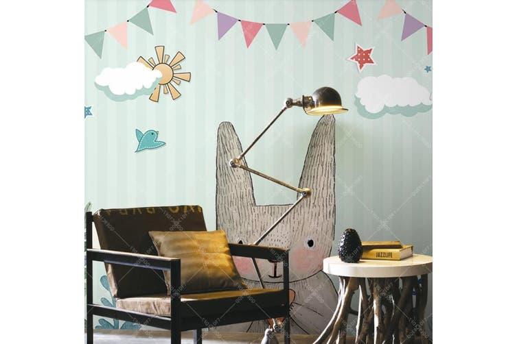 3D Home Wallpaper Cat D45 ACH Wall Murals Woven paper (need glue), XXXL 416cm x 254cm (WxH)(164''x100'')