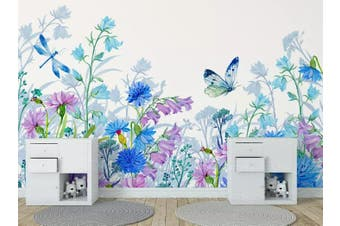 3D Home Wallpaper Hundred Flowers D44 ACH Wall Murals Woven paper (need glue), XL 208cm x 146cm (WxH)(82''x58'')