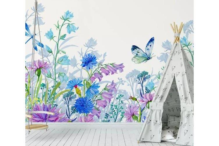 3D Home Wallpaper Hundred Flowers D44 ACH Wall Murals Self-adhesive Vinyl, XXXL 416cm x 254cm (WxH)(164''x100'')