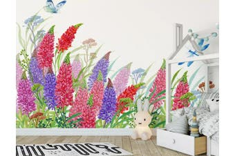 3D Home Wallpaper Hundred Flowers D43 ACH Wall Murals Self-adhesive Vinyl, XL 208cm x 146cm (WxH)(82''x58'')