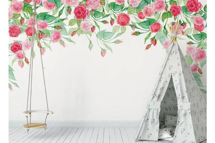 3D Home Wallpaper Hundred Flowers D42 ACH Wall Murals Self-adhesive Vinyl, XXXXL 520cm x 290cm (WxH)(205''x114'')