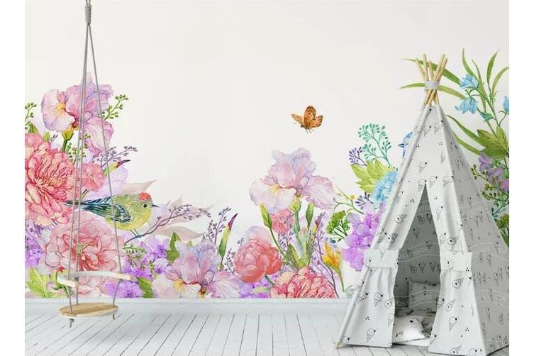3D Home Wallpaper Hundred Flowers D41 ACH Wall Murals Woven paper (need glue), XXXL 416cm x 254cm (WxH)(164''x100'')