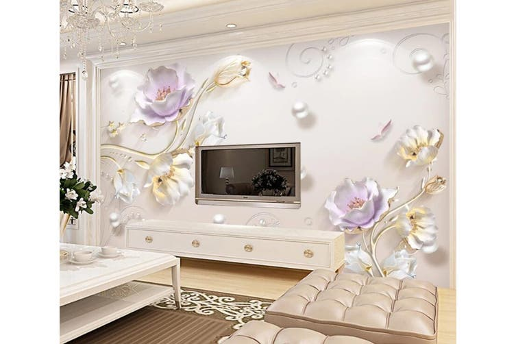 3D Home Wallpaper Flower D40 ACH Wall Murals Woven paper (need glue), XXL 312cm x 219cm (WxH)(123''x87'')