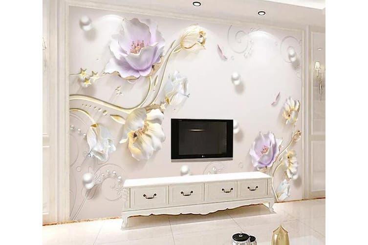 3D Home Wallpaper Flower D40 ACH Wall Murals Woven paper (need glue), XXXL 416cm x 254cm (WxH)(164''x100'')