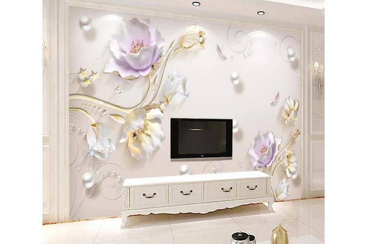 3D Home Wallpaper Flower D40 ACH Wall Murals Woven paper (need glue), XXXXL 520cm x 290cm (WxH)(205''x114'')