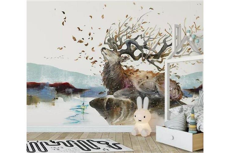 3D Home Wallpaper Elk D39 ACH Wall Murals Woven paper (need glue), XXXXL 520cm x 290cm (WxH)(205''x114'')