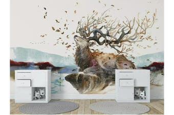 3D Home Wallpaper Elk D39 ACH Wall Murals Self-adhesive Vinyl, XXXXL 520cm x 290cm (WxH)(205''x114'')