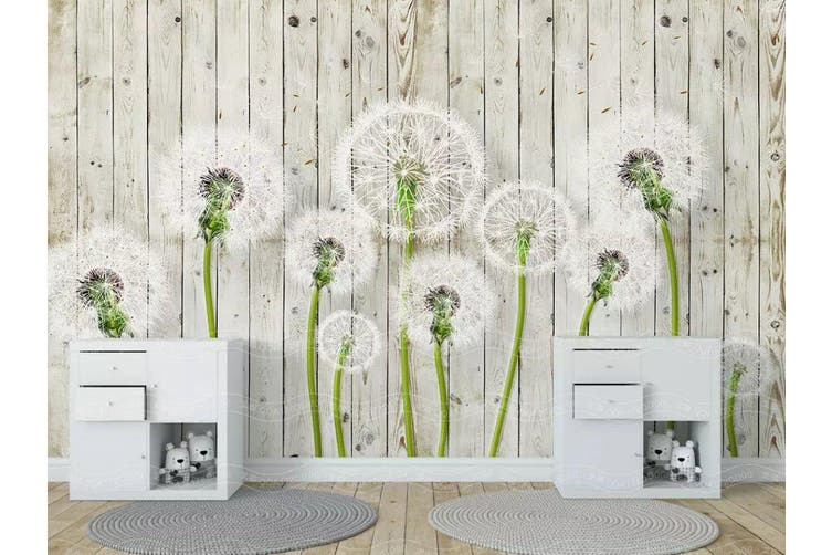 3D Home Wallpaper Dandelion D38 ACH Wall Murals Self-adhesive Vinyl, XXXL 416cm x 254cm (WxH)(164''x100'')