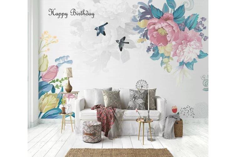 3D Home Wallpaper Flower Bird D35 ACH Wall Murals Woven paper (need glue), XXXL 416cm x 254cm (WxH)(164''x100'')