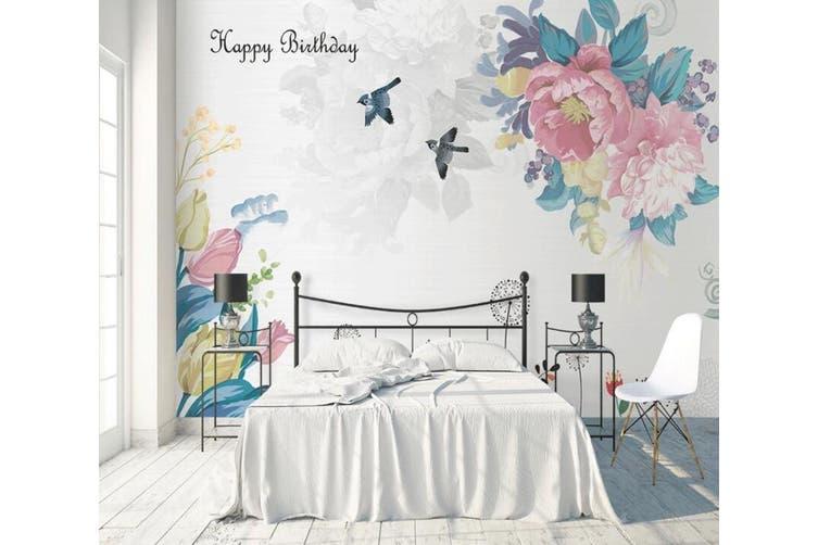3D Home Wallpaper Flower Bird D35 ACH Wall Murals Self-adhesive Vinyl, XL 208cm x 146cm (WxH)(82''x58'')