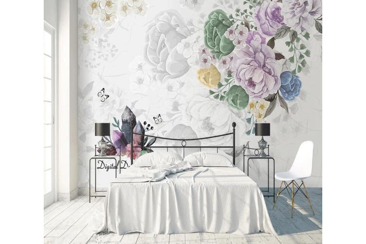 3D Home Wallpaper Flower D34 ACH Wall Murals Self-adhesive Vinyl, XL 208cm x 146cm (WxH)(82''x58'')