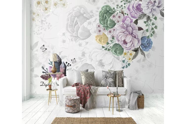 3D Home Wallpaper Flower D34 ACH Wall Murals Self-adhesive Vinyl, XXL 312cm x 219cm (WxH)(123''x87'')