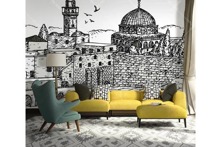 3D Home Wallpaper Castle D32 ACH Wall Murals Woven paper (need glue), XXXL 416cm x 254cm (WxH)(164''x100'')