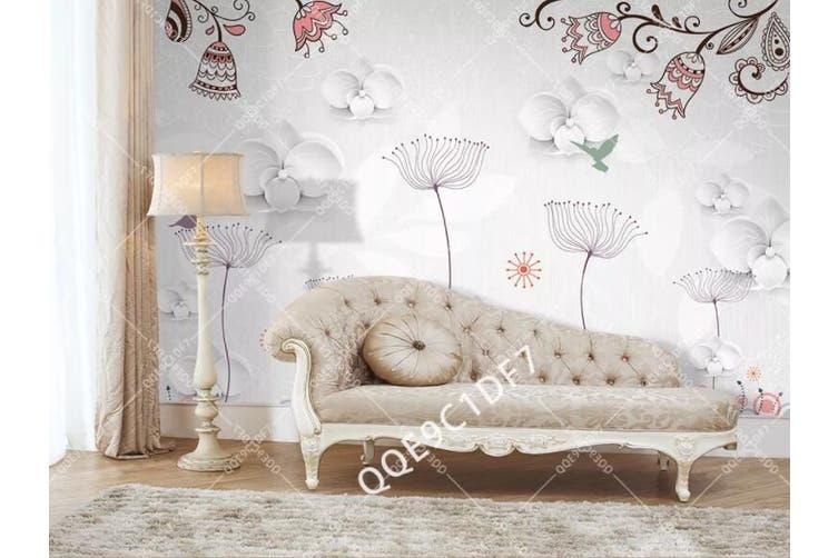 3D Home Wallpaper Flower D31 ACH Wall Murals Self-adhesive Vinyl, XXL 312cm x 219cm (WxH)(123''x87'')