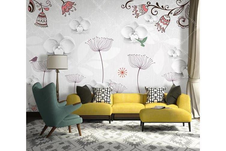 3D Home Wallpaper Flower D31 ACH Wall Murals Self-adhesive Vinyl, XXXL 416cm x 254cm (WxH)(164''x100'')