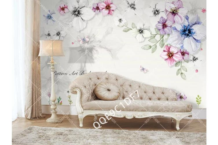 3D Home Wallpaper Flower D30 ACH Wall Murals Woven paper (need glue), XXXL 416cm x 254cm (WxH)(164''x100'')