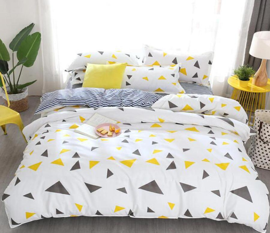 3d Dark Gray Yellow Triangle 3004 Bed Pillowcases Quilt Duvet Cover Quilt Cover Bedding Set Quilt Cover Quilt Duvet Cover Queen Matt Blatt