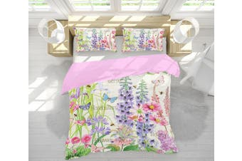 3D Lilac Garden 020 Studio MetaFlorica Bedding Bed Pillowcases Quilt Duvet Cover Quilt Cover Bedding Set Quilt Cover Quilt Duvet Cover, King Single