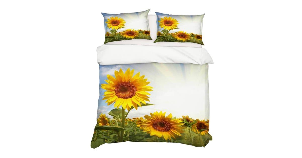 Dick Smith 3d Bedding Sheet Sunshine Sunflower 130 Quilt Cover Set Bedding Set Pillowcases 3d Duvet Cover Home Garden Children S Home Furniture Bedding Quilts Bedspreads Doonas