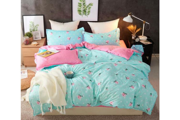 3d Mint Green Pink Strawberry 2158, Mint Green And Pink Bedding