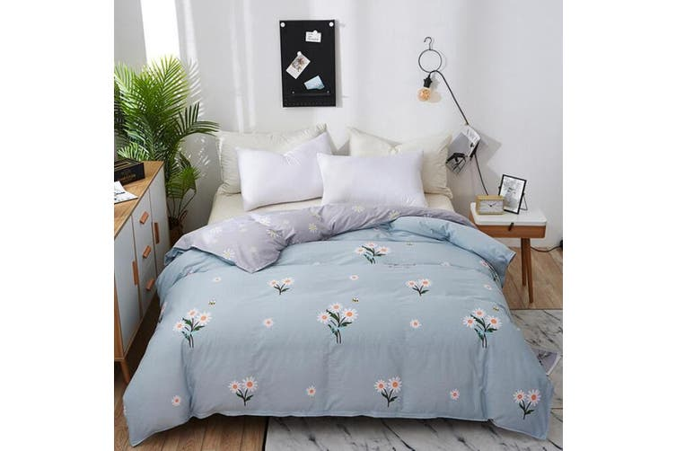 White Flowers 2045 Quilt Cover, White Bedding With Small Flowers