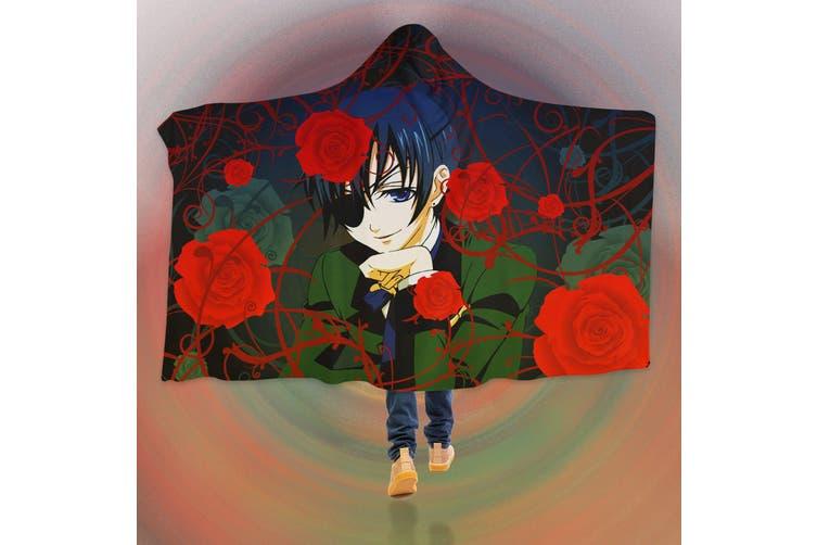 3D Black Butler 4560 Anime Hooded Blanket, 150x200cm(59''x78'')