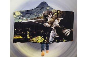 3D Attack On Titan 4540 Anime Hooded Blanket, 150x110cm(59''x43'')