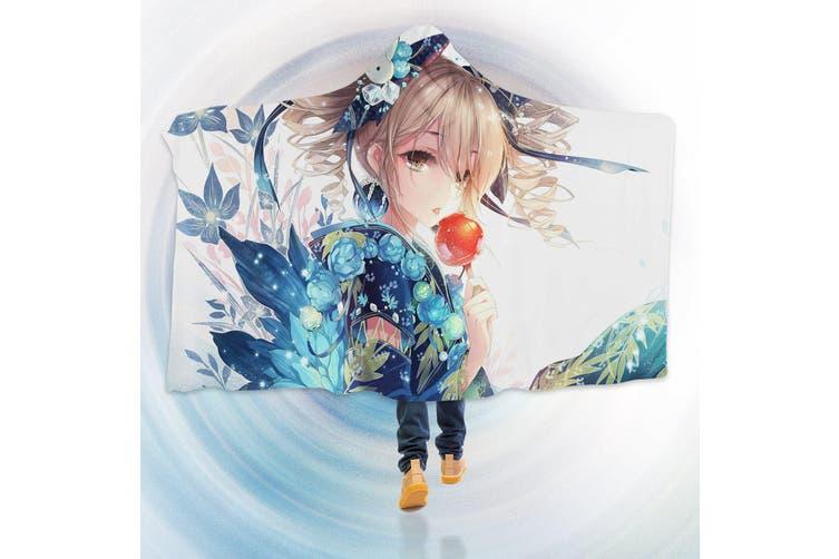 3d Flower Girl 4399 Anime Hooded Blanket 150x110cm 59 X43 Matt Blatt