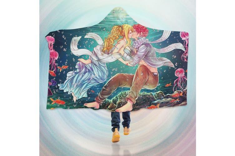 3D Fairy Tail 4286 Anime Hooded Blanket, 150x110cm(59''x43'')