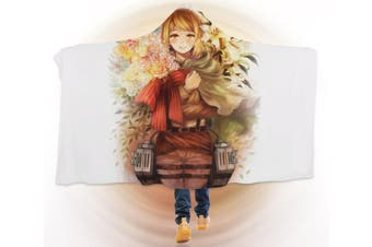 3D Attack On Titan 4273 Anime Hooded Blanket, 150x110cm(59''x43'')
