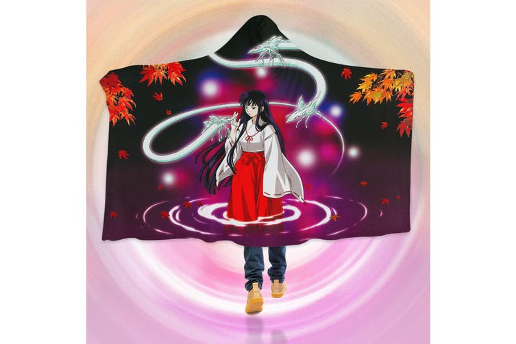 3D Inuyasha 4269 Anime Hooded Blanket, 150x110cm(59''x43'')