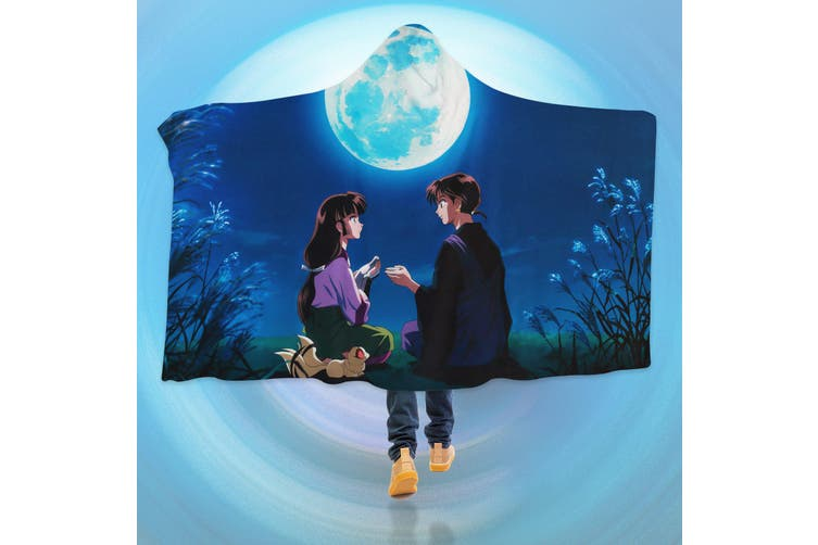 3D Inuyasha 4268 Anime Hooded Blanket, 150x200cm(59''x78'')