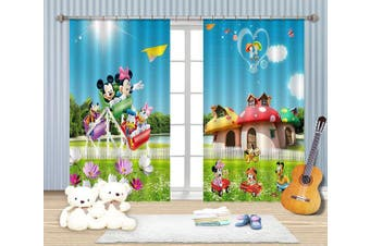 3D Mushroom Houses For Kids 2244 Curtains Drapes