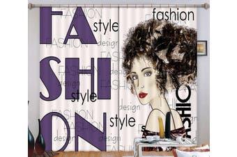 3D Fashion Girl 120 Curtains Drapes