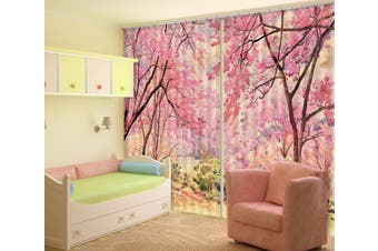 3D Peach Blossom Forest 119 Curtains Drapes