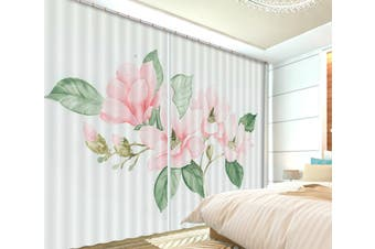 3D Pink Flowers 118 Curtains Drapes
