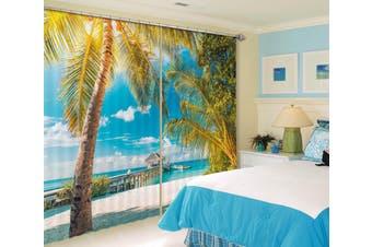 3D Coconut Palm Tree 114 Curtains Drapes